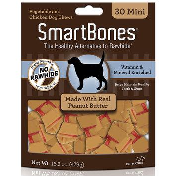 SmartBones Mini Peanut Butter Dog Chews, 30 Count