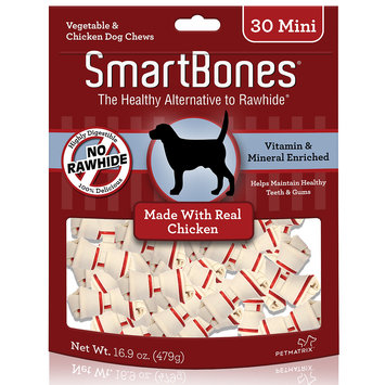 SmartBones Mini Chicken Dog Chews, 30 Count
