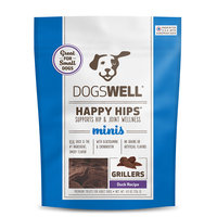 Dogswell Happy Hips Minis Duck Grillers Dog Treats, 4.8oz