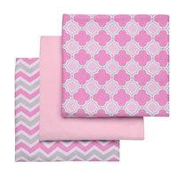 Boppy 3 Pack Flannel Receiving Blankets - Pink/Grey