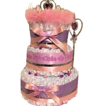 Kutie Patootie Diaper Cakes & More Purple & Pink Princess 3 Tier Diaper Cake