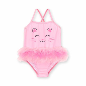 Baby Girl Kitty One Piece Tutu Swimwsuit