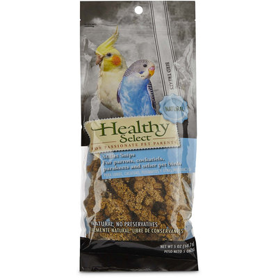 Healthy Select Millet Snips for Parrots, Cockatiels, Parakeets and Other Pet Birds, 5 oz.