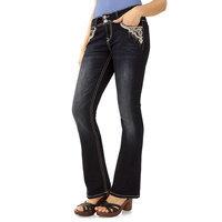 Juniors' Wallflower 2-Button Luscious Curvy Bootcut Jeans, Girl's, Size: 9, Light Blue
