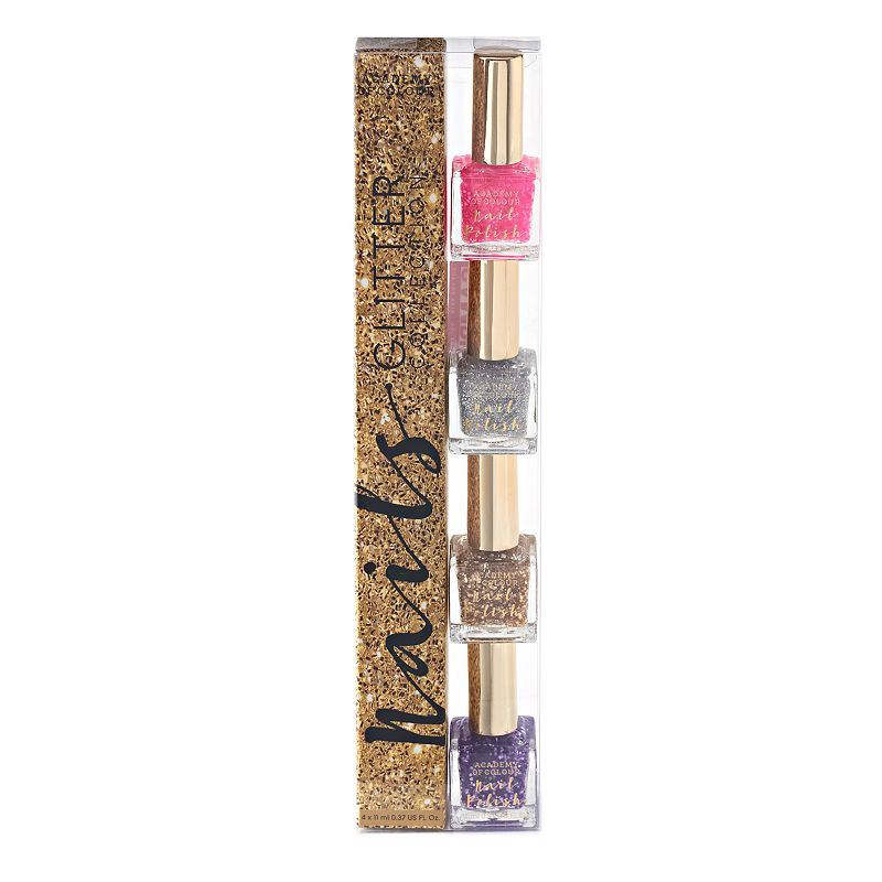 Madame Milly Academy of Colour Glitter Collection 4-pk. Nail Polish Set, Multicolor