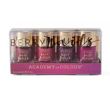 Madame Milly Academy of Colour Berry Nails 4-pk. Nail Polish Set, Multicolor