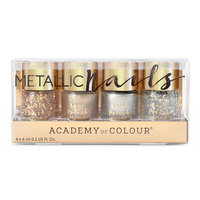 Academy of Colour 4-pk. Metallic Nail Polish Set, Multicolor