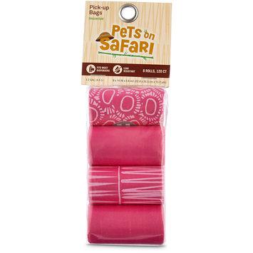So Phresh Pets on Safari Pink Print Pick Up Bags, 120 count