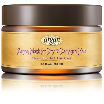 Dry Damaged Hair Deep Conditioner Mask - Normal to Thick Coarse Hair Care Moroccan Argan Masque 8.5 oz - Advanced Hair Moisturizer Conditioning Nourishment