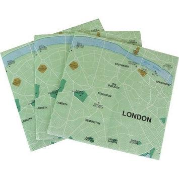 Design Ideas Mapkin, 5x5, Package of 20 Napkins, London