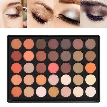 Eyeshadow, U-Kiss 35 Colors Nature Glow Eye shadows Makeup Palette Set, Professional, Waterproof, Matte, Shimmer, Warm