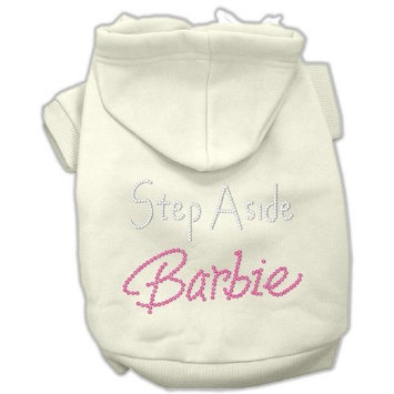 Mirage Pet Products 20-Inch Step Aside Barbie Hoodies, 3X-Large, Cream
