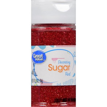 Wal-mart Stores, Inc. Great Value Red Decorating Sugar, 3.5 oz