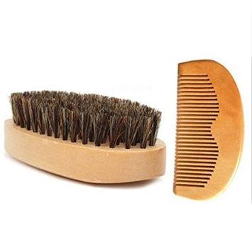 TOOGOO Beard Growth Beard Gift Kit Beard Comb Beard Oil Beard Balm Beard Brush, #3 Beard Brush&Comb