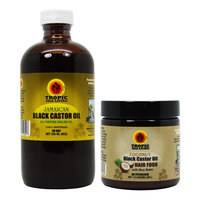 Tropic Isle Living Jamaican Black Castor Oil 8oz & Coconut Hair Food /applicator