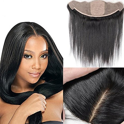 13x4 Full Silk Base Lace Frontal Closure Straight Ear To Ear Brazilian Virgin Best Remy Human Hair Lace Front Closures Invisible Knots With Baby Hair Natural Color 14 inches