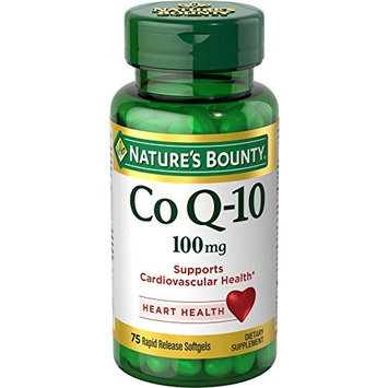 2 Pack - Nature's Bounty Co Q-10 100 mg, 75 Each