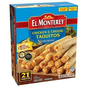 El Monterey Chicken and Cheese Flour Taquitos, 1.31 Pound - 5 per case.