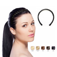 Buy 2 Hollywood Hair braided Alice Band get 1 Free - Bold Black (Pack of 3)
