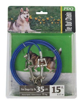 Warren Pet Products Q231500099 Medium Tie Out, 15 feet 35 lbs.
