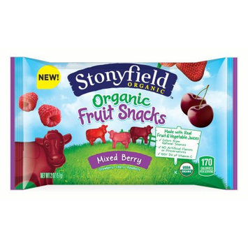 Ferrara Candy Company Stonyfield Organic Fruit Flavored Snacks, Mixed Berry Flavor, 2 Ounce Bag, Pack of 12