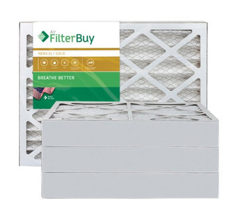 AFB Gold MERV 11 15x25x4 Pleated AC Furnace Air Filter. Filters. 100% produced in the USA. (Pack of 4)