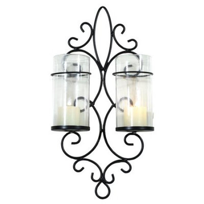 Adeco Glass Sconce