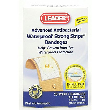 Leader Strong Strip Adhesive Bandages, Waterproof, 20 Count Per Box