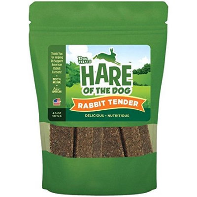Treat Planet Hare of the Dog Rabbit Tenders Dog Treats, 6 Oz Bag