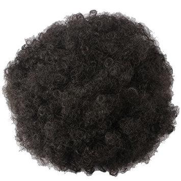 Riyang Women's Hair Bun Afro Kinky Curls Short Hair Heat Resistant Natural Black #2
