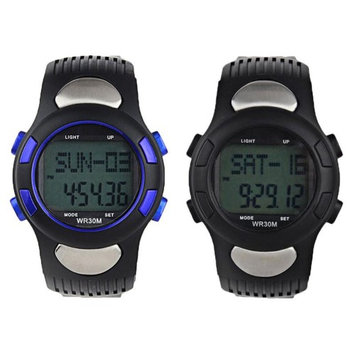Blackbeltshop Inc. Waterproof Fitness Pedometer Calorie Counter Sport Watch Heart Rate Monitor