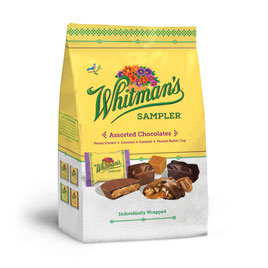 Russell Stover Chocolates Whitman's 18.25 OZ Sampler Assorted Chocolate Gusset Bag