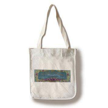 Violette De Cannes Soap Label (100% Cotton Tote Bag - Reusable)
