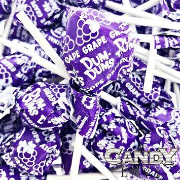 Purple Dum Dums Color Party - Grape Flavored - 4 Bags - 75 Count Per Bag - 300 Total Lollipops - Includes Free