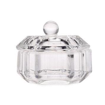 Anself Crystal Glass Nail Art Acrylic Dappen Dish Bowl Cup Liquid Powder with Cap Lid