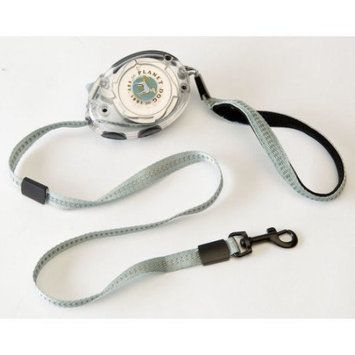 Planet Dog Zip Lead Retractable Dog Leash in Chrome / Titanium Size: Small (Dogs up to 20 lbs)