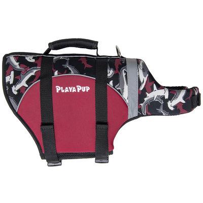 Playapup Pet Reef Red Flotation Device - Reef Red - Medium