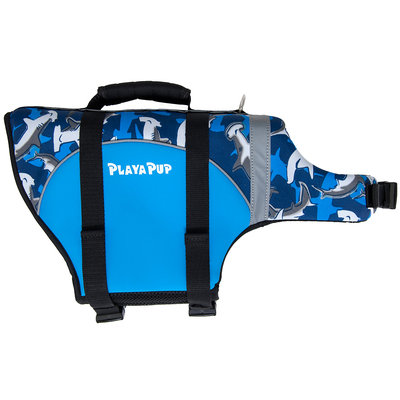 Playapup Pet Surf Blue Flotation Device - Surf Blue - Medium