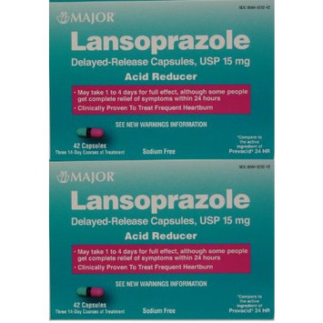 Lansoprazole 84 Capsules Delayed Release Acid Reducer Generic for Prevacid OTC 15 MG Capsules 42 ea. 2 PACK Total 84 ea. [2]