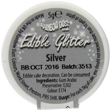 Rainbow Dust Silver Edible Glitter 5g