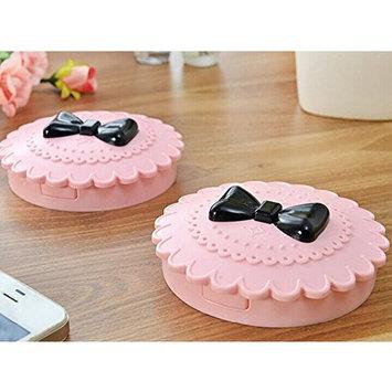 Adecco LLC Pack of 2 Cute Three Tier False Eyelash Travel Storage Carry Case Box (Pink)