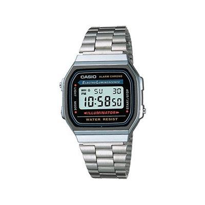 Casio Men's A168W-1 Electro Luminescence Digital Bracelet Watch