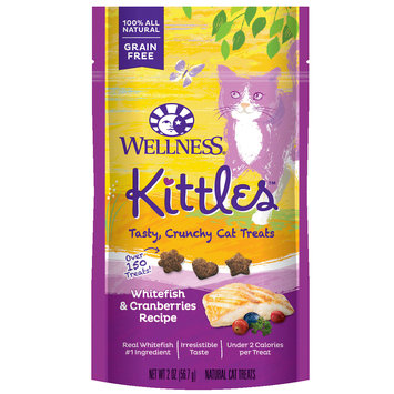 Wellness Kittles Grain Free Natural Cat Treats, Whitefish and Cranberries, 2-Ounce Bag