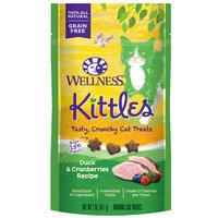 Wellness Kittles Grain Free Natural Cat Treats, Duck and Cranberries, 2-Ounce Bag
