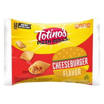 Totino's Pizza Rolls, Cheeseburger, 50 Rolls, 24.8 oz Bag
