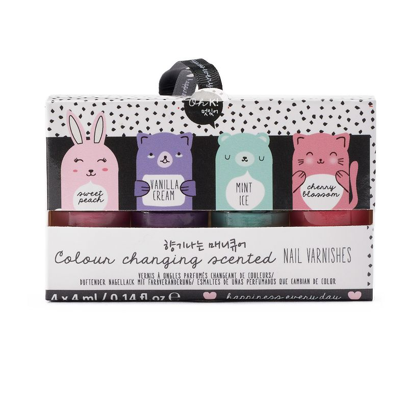 NPW Oh K! Color Changing Scented Nail Varnish Set, Multicolor