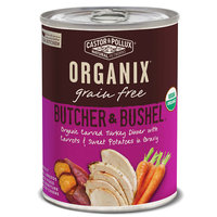 Castor & Pollux Organix Butcher & Bushel Organic Carved Turkey Dinner with Fresh Carrots & Sweet Potatoes Canned Dog Food