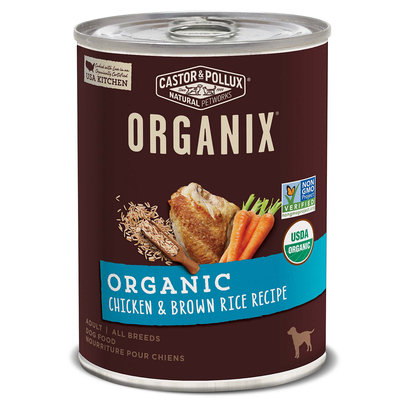 Castor & Pollux Organix Organic Chicken & Brown Rice Recipe Canned Dog Food