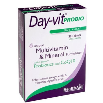 Health Aid Day-vit PROBIO (MVM with Probiotics & CoQ10) - Blister Pack 30 Tablets