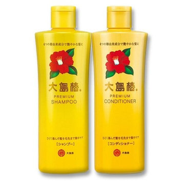 Oshima Tsubaki Premium Camelia Oil Hair Care Set: Shampoo & Conditioner - 2 x 300ml Bottles